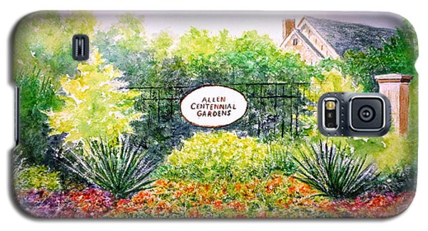 Galaxy S5 Case featuring the painting Allen Gardens by Thomas Kuchenbecker