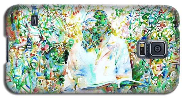 Allen Ginsberg Reading At The Park Galaxy S5 Case by Fabrizio Cassetta