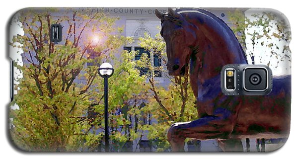 Allentown Pa Old Lehigh County Courthouse And Davinci I Horse  Galaxy S5 Case