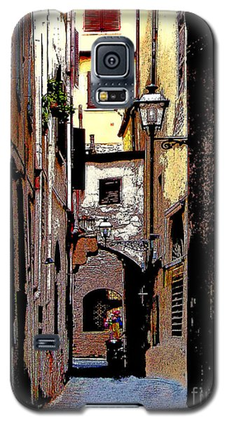 Galaxy S5 Case featuring the digital art Alley In Florence 2 Digitized by Jennie Breeze