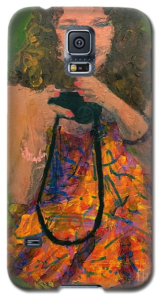 Galaxy S5 Case featuring the painting Allison by Donald J Ryker III