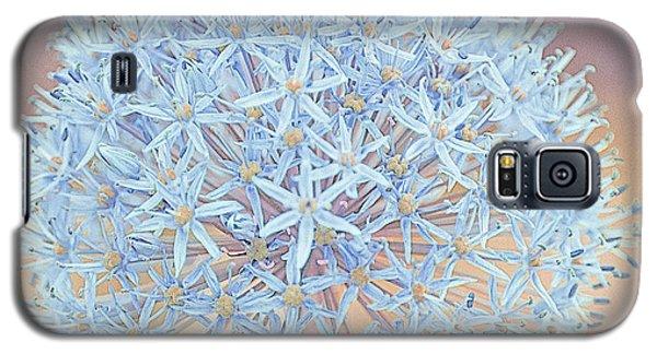 Galaxy S5 Case featuring the digital art Allium Bursting by Susan  McMenamin