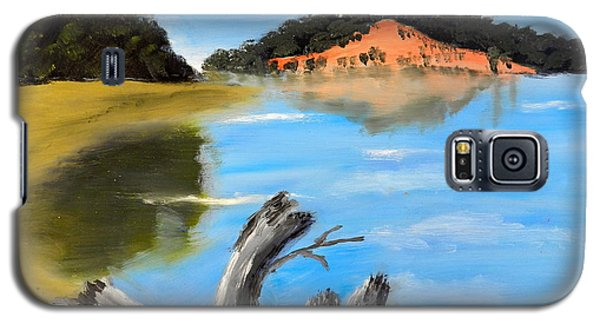 Galaxy S5 Case featuring the painting Allonah Beach Tasmania by Pamela  Meredith