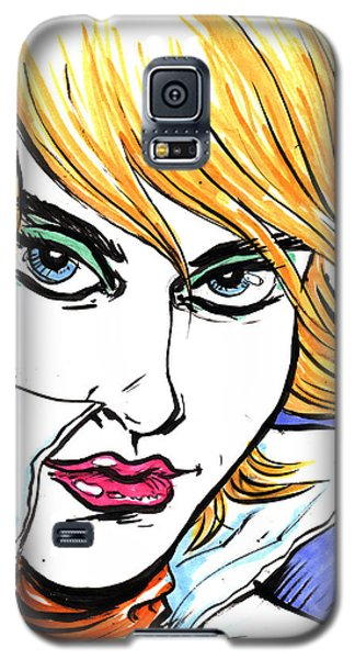 Galaxy S5 Case featuring the drawing Allure by John Ashton Golden