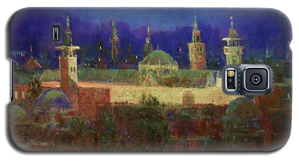 Almasjed Alamawe At Night - Damascus - Syria Galaxy S5 Case by Laila Awad Jamaleldin