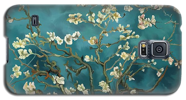 Galaxy S5 Case featuring the painting Almond Blossoms' Reproduction by Tim Gilliland