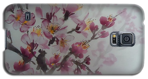 Galaxy S5 Case featuring the painting Almond Flower by Dongling Sun