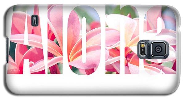 Aloha Tropical Plumeria Typography Galaxy S5 Case