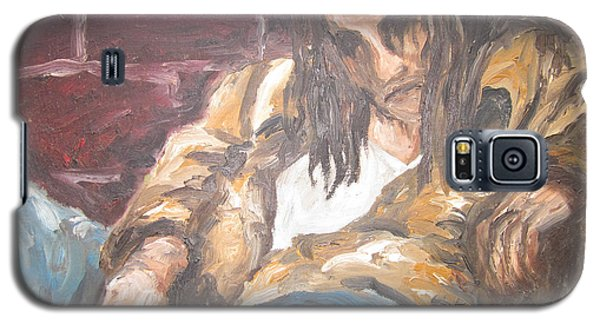 Galaxy S5 Case featuring the painting Alone by Cheryl Pettigrew