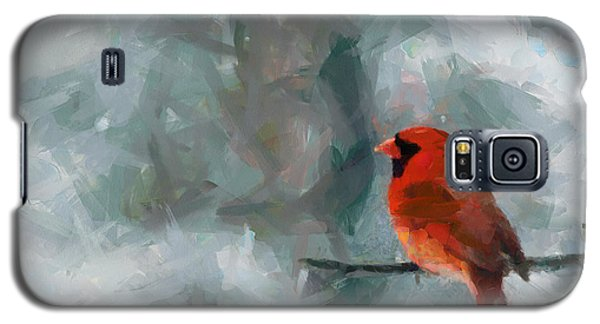 Alone Red Bird Galaxy S5 Case by Georgi Dimitrov