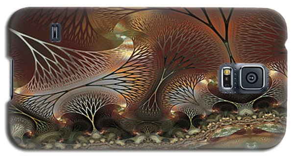 Galaxy S5 Case featuring the digital art Along The Banks by Kim Redd