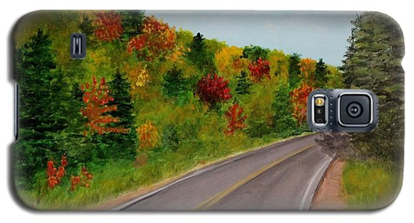 Galaxy S5 Case featuring the painting Along The Cabot Trail by Jesslyn Fraser