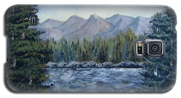 Galaxy S5 Case featuring the painting Along The Way by Suzanne Theis