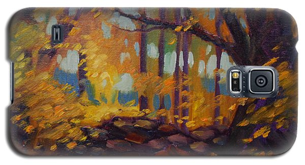 Galaxy S5 Case featuring the painting Along Windsor Road  by Len Stomski