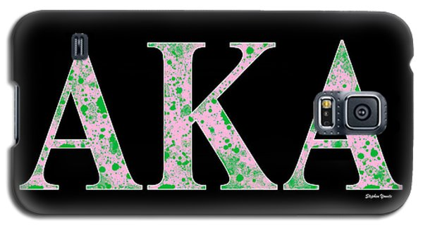 Galaxy S5 Case featuring the digital art Alpha Kappa Alpha - Black by Stephen Younts