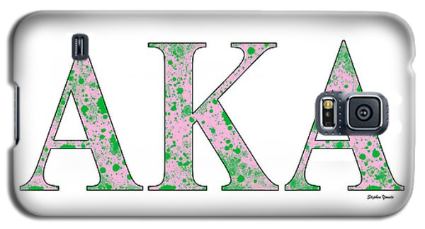 Galaxy S5 Case featuring the digital art Alpha Kappa Alpha - White by Stephen Younts