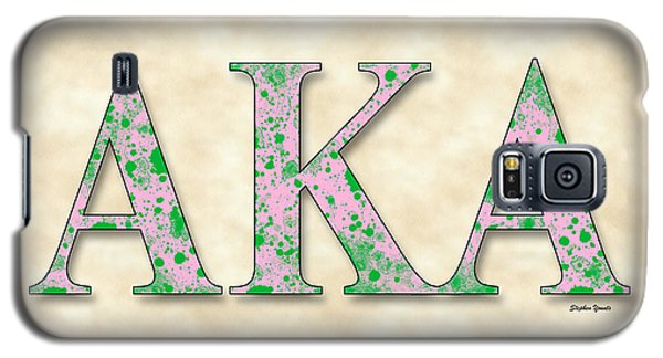 Alpha Kappa Alpha - Parchment Galaxy S5 Case by Stephen Younts