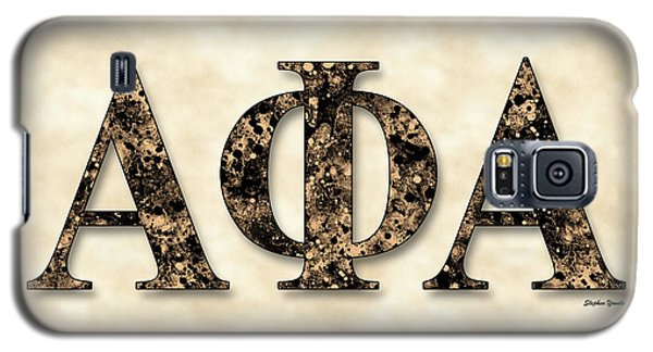 Alpha Phi Alpha - Parchment Galaxy S5 Case by Stephen Younts