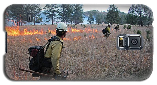 Alpine Hotshots Ignite Norbeck Prescribed Fire Galaxy S5 Case