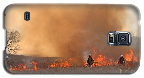 Alpine Hotshots Ignite The Norbeck Prescribed Fire. Galaxy S5 Case