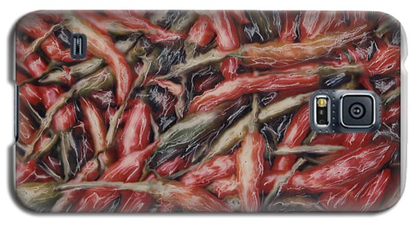 Altered Polaroid - Chile Peppers Galaxy S5 Case by Wally Hampton
