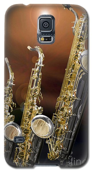 Alto Tenor Baritone Saxophone Photo In Color 3461.02 Galaxy S5 Case