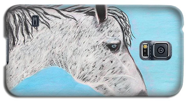 Galaxy S5 Case featuring the painting Alvaro Stallion by Jeanne Fischer