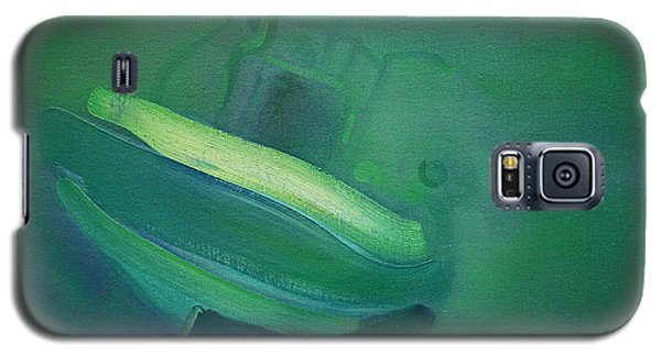 Galaxy S5 Case featuring the painting Alvor Working Boat  by Charles Stuart