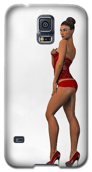 Galaxy S5 Case featuring the digital art Alyson... by Tim Fillingim