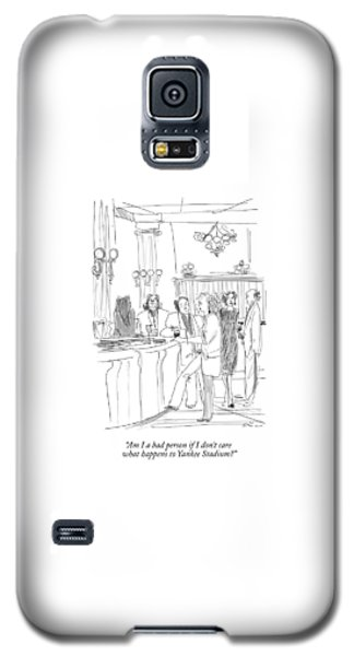 Yankee Stadium Galaxy S5 Case - Am I A Bad Person If I Don't Care What Happens by Richard Cline