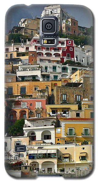 Galaxy S5 Case featuring the photograph Amalfi Houses by Henry Kowalski