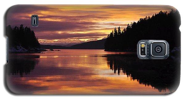 Amalga Harbor Sunset Galaxy S5 Case by Cathy Mahnke