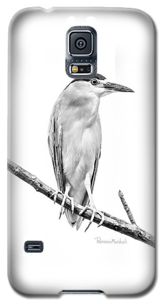 Amazonian Heron Black And White Galaxy S5 Case