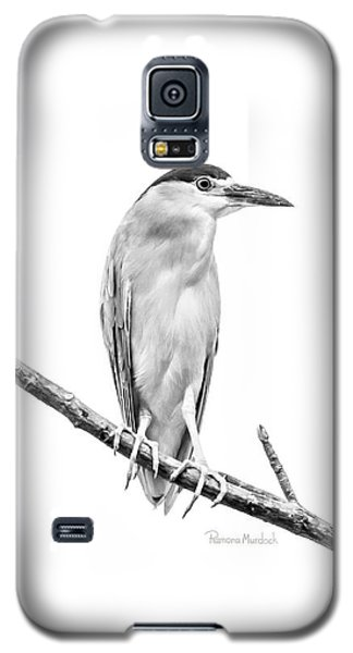 Amazonian Heron Black And White Galaxy S5 Case