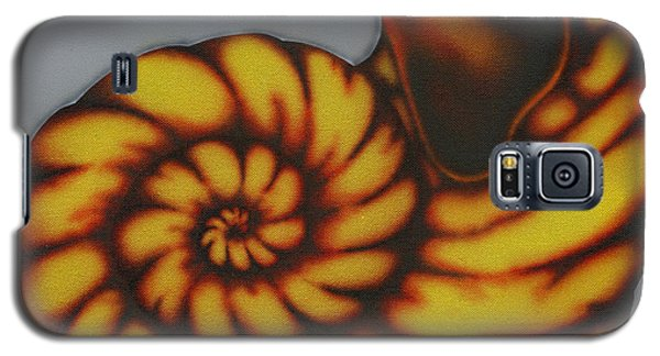 Galaxy S5 Case featuring the painting Amber. by Kenneth Clarke
