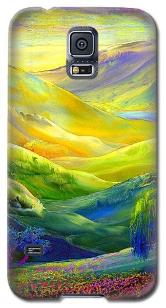 Wildflower Meadows, Amber Skies Galaxy S5 Case