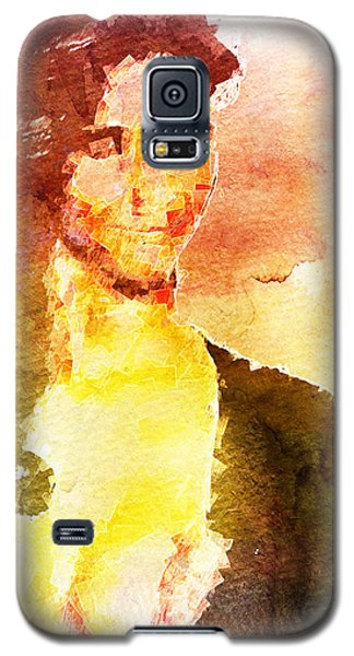 Galaxy S5 Case featuring the digital art Ambiguous Woman by Andrea Barbieri