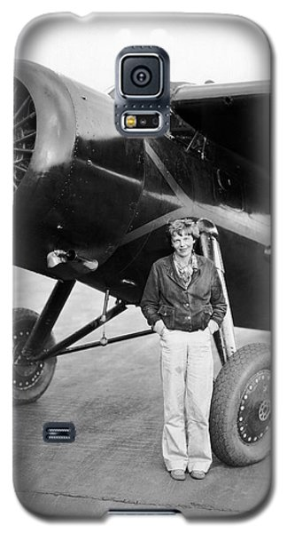 Amelia Earhart And Her Plane Galaxy S5 Case