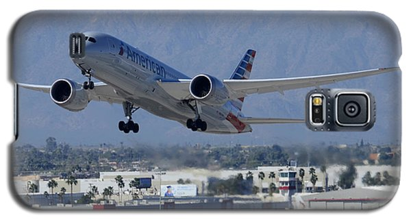 American American Airlines First Boeing 787-823 N800an Taking Off Phoenix Sky Harbor March 7 2015  Galaxy S5 Case