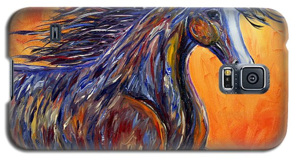 Galaxy S5 Case featuring the painting American Beauty Abstract Horse Painting by Jennifer Godshalk