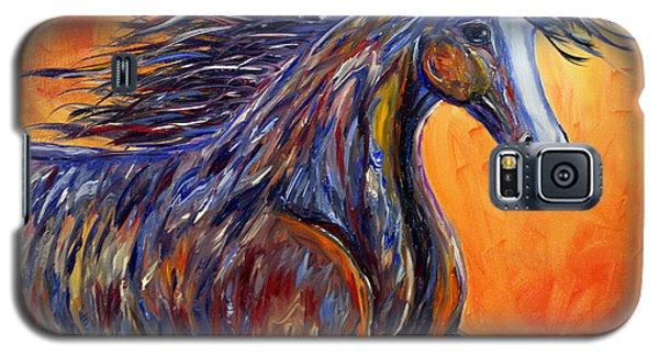 American Beauty Abstract Horse Painting Galaxy S5 Case by Jennifer Godshalk