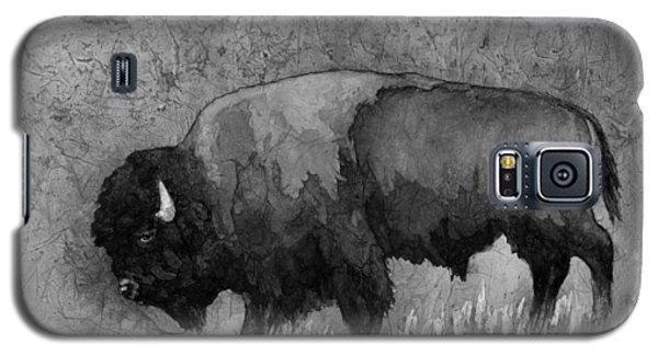 Monochrome American Buffalo 3  Galaxy S5 Case by Hailey E Herrera