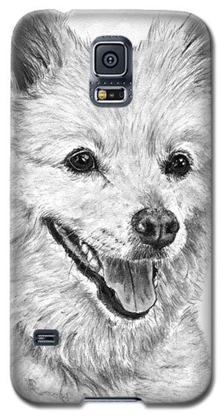 American Eskimo Charcoal Drawing Galaxy S5 Case