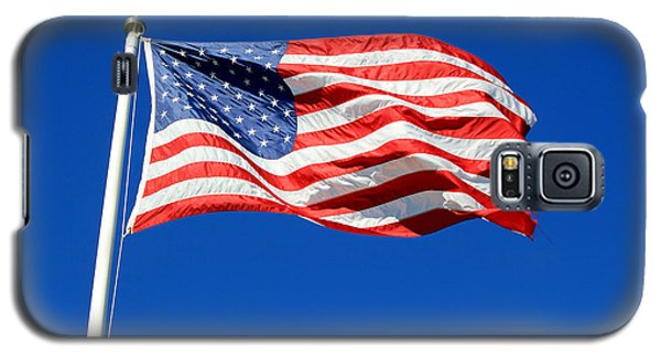 Galaxy S5 Case featuring the photograph American Flag by Barbara West