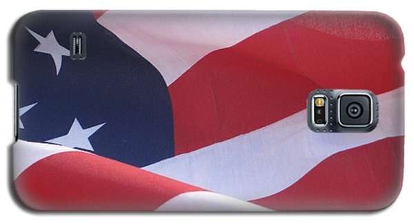 Galaxy S5 Case featuring the photograph American Flag   by Chrisann Ellis
