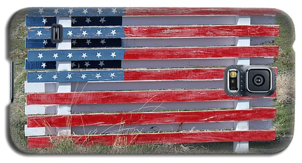 Galaxy S5 Case featuring the photograph American Flag Country Style by Sylvia Thornton