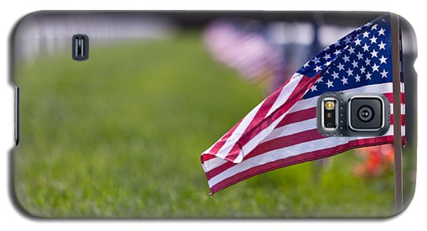 Galaxy S5 Case featuring the photograph American Flag by Jerry Gammon