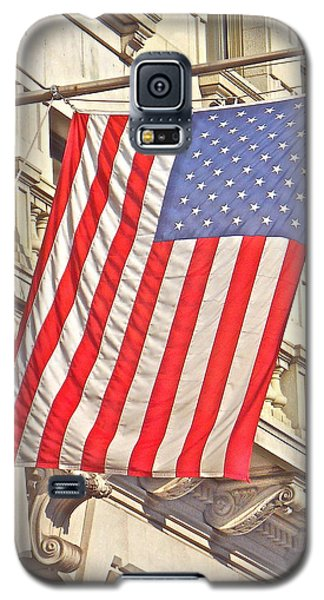 Galaxy S5 Case featuring the photograph American Flag N.y.c 1 by Joan Reese