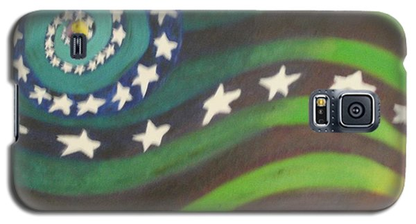Galaxy S5 Case featuring the painting American Flag Reprise by Thomasina Durkay