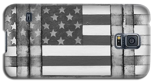 Galaxy S5 Case featuring the painting American Flag by Steve  Hester